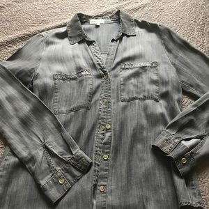 Cloth + Stone Gray Tencil Button Down